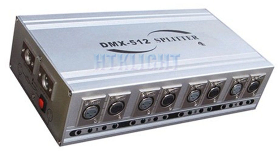 Durable DMX Signal Splitter , 4 Way Dmx Splitter With Aluminum Alloy