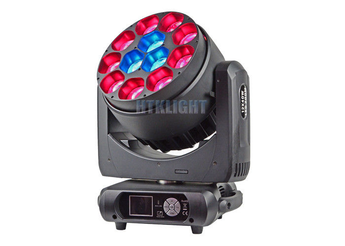 IP 20 LED Stage Moving Head Light 12X40Watt Rgbw 4 In 1 Beam Angle 50 Degree