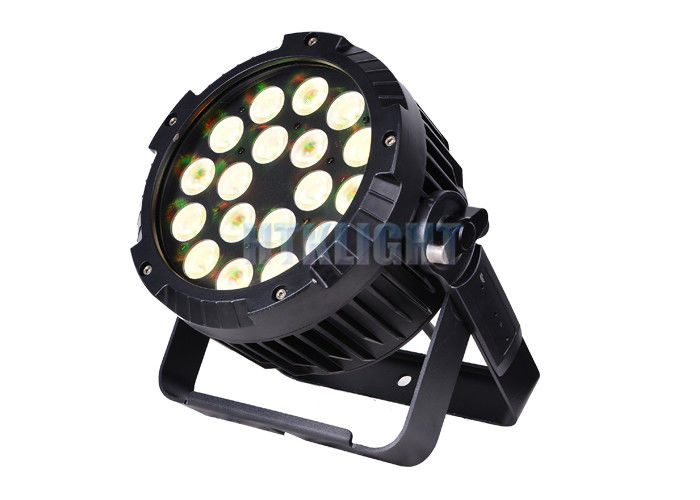 Warm White LED Par Can Light 18X15w Rgbwa 5 In 1 For Stage Performance